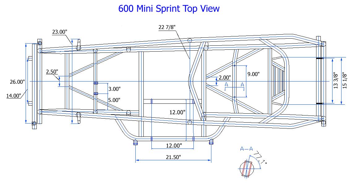 new xxx race co micro sprint chassis mini 600 triple x ebay. Black Bedroom Furniture Sets. Home Design Ideas